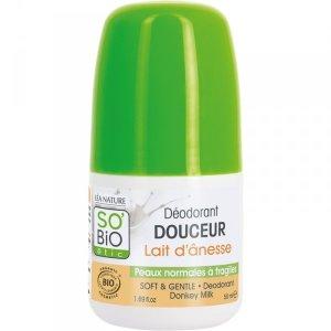 SO BIO, Ośle mleko, Organiczny dezodorant do skóry wrażliwej, 50ml