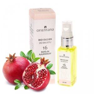 Orientana, Naturalny olejek do pielęgnacji biustu 16 Roślin Ajurwedy, 50ml