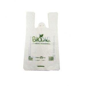 Worki sklepowe Torba Reklamówki ze skrobi kukurydzianej Biodegradowalne i Kompostowalne 50cm, op./80sztuk