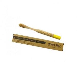 Bambusowa szczoteczka do zębów DLA DZIECI włosie miękkie ŻÓŁTA