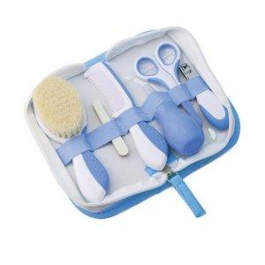 Zestaw niezbędnych akcesoriów w kosmetyczce do pielęgnacji dziecka BLUE