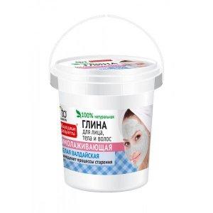 Fito cosmetics - Glinka do twarzy. ciała i włosów odmładzająca Biała Wałdajska 155ml