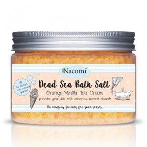 Nacomi - Dead Sea Bath Salt sól do kąpieli Orange-Vanilla Ice Cream 450g
