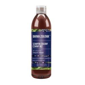 Barwa - Ziołowa szampon ziołowy do włosów siwych i blond Czarny Bez 250ml
