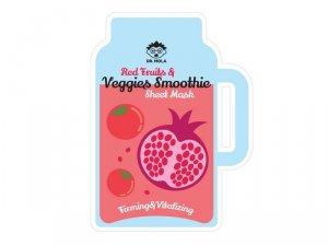 Dr. mola - Red Fruits & Veggies Smoothie Sheet Mask maseczka w płachcie ujędrniająco-witalizująca 23ml