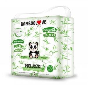 Bamboolove - Pieluszki jednorazowe z włóknem bambusowym rozm. XL (12-18 kg) 20szt