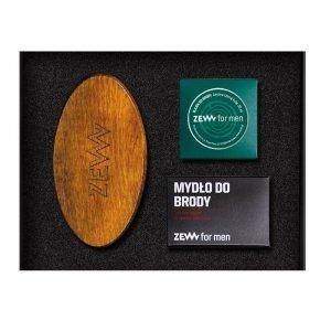 Zew for men - Schludny Drwal zestaw szczotka do brody + olejek do brody 30ml + mydło do brody z węglem drzewnym 85ml