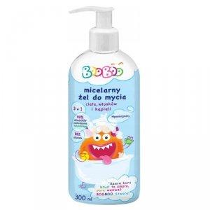 Booboo - Micelarny żel do mycia ciała włosów i kąpieli 300ml