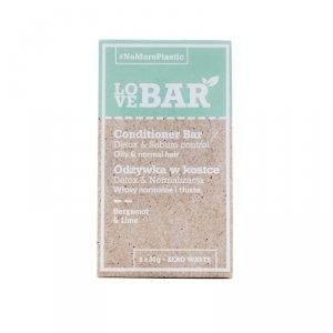 Love BAR - Conditioner Bar odżywka w kostce do włosów normalnych i tłustych Bergamotka & Limonka 2x30g