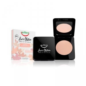 Equilibra - Love's Nature Compact Face Powder utrwalający puder w kompakcie 02 Rose Beige 8.5g