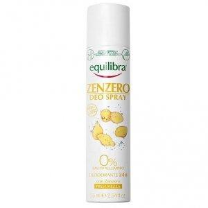 Equilibra - Zenzero Deo Spray imbirowy dezodorant w sprayu 75ml