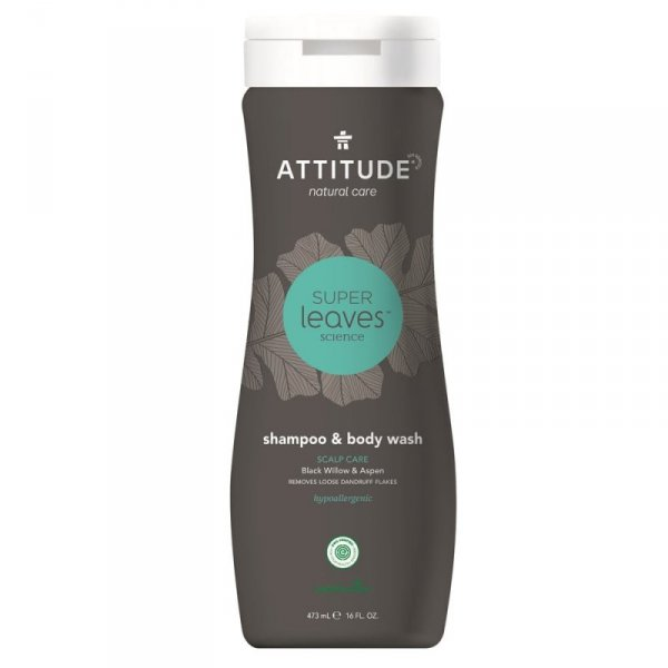 Attitude, MEN, Szampon i żel do mycia ciała 2 w 1, SCALP CARE MEN, 473 ml