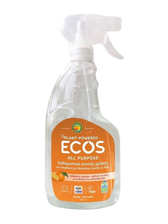 ECOS, Spray do czyszczenia, pomarańcza, 650ml