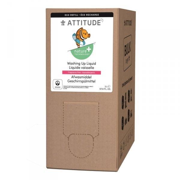 Attitude, Płyn do zmywania naczyń i butelek dziecięcych,  bezzapachowy, 2L