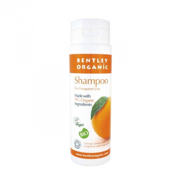 Bentley Organic, Szampon do Codziennego Stosowania z Pomarańczą, Grejpfrutem, Cytryną i Rumiankiem, 250 ml