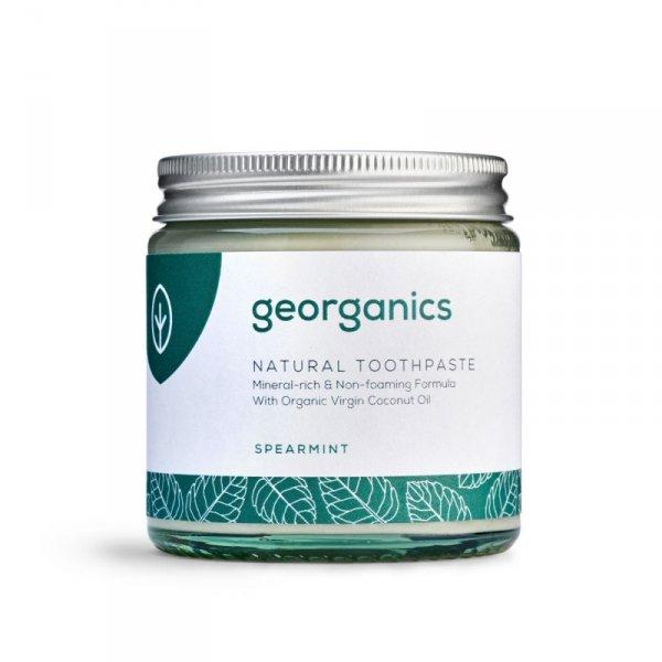 Georganics, Mineralna pasta do zębów w słoiku Spearmint, 120ml