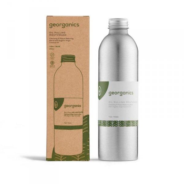 Georganics, Olej do płukania ust, Tea Tree, 275 ml