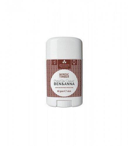 BEN & ANNA Naturalny Dezodorant na bazie Sody NORDIC TIMBER (sztyft plastikowy) 0% Aluminium 60g
