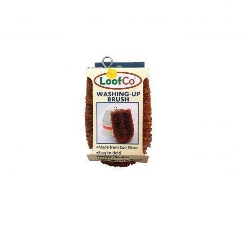 LoofCo Naturalna szczotka do zmywania z włókien ze skorupy kokosa