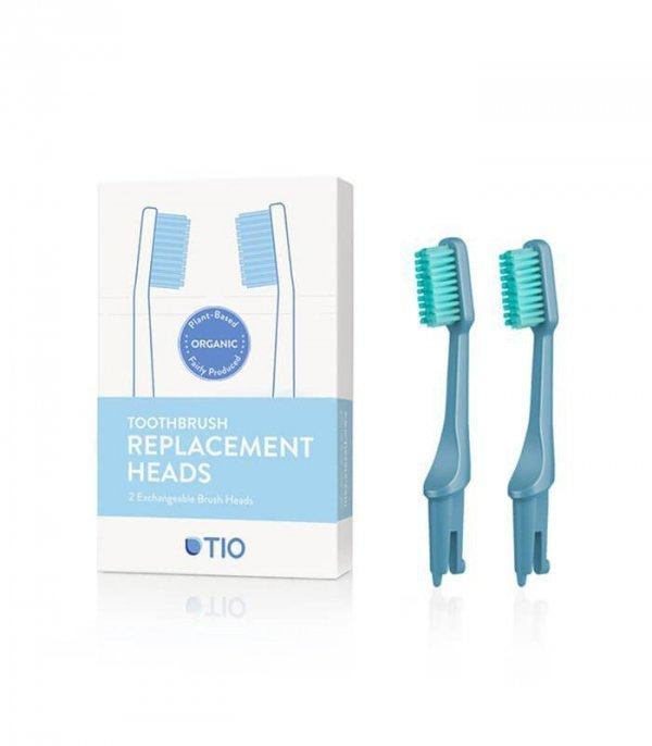 TIO Głowice do szczoteczki do zębów LODOWIEC włosie średnie biodegradowalne 100% składników roślinnych