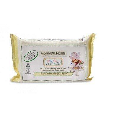 BABY ANTHYLLIS Biodegradowalne kompostowalne chusteczki nawilżające do pielęgnacji skóry dziecka 60szt