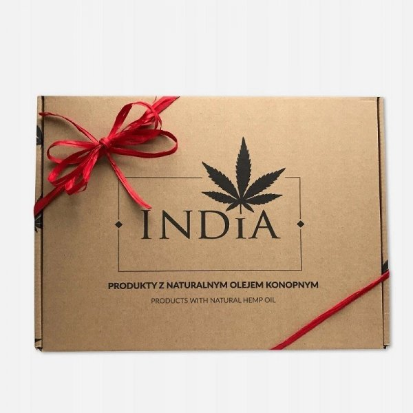 INDIA COSMETICS Super zestaw świąteczny - 8 kosmetyków konopnych