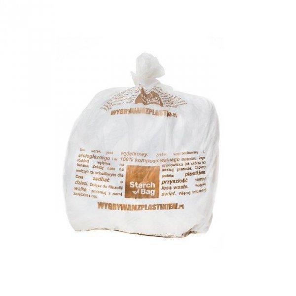 STARCHBAG Biodegradowalne worki na śmieci w 100% biodegradowalne 15 sztuk 35 L