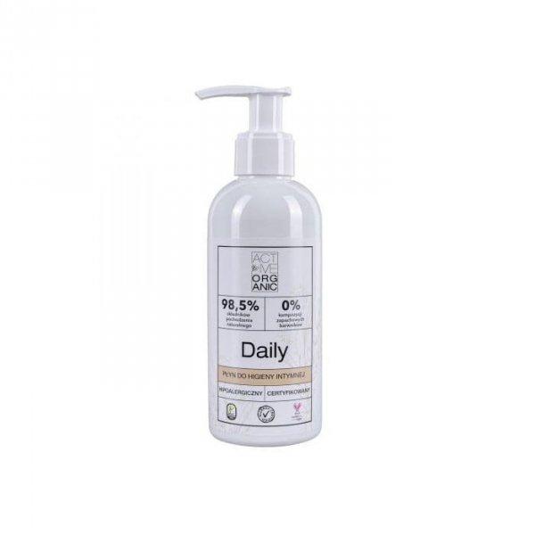 ACTIVE ORGANIC Płyn do higieny intymnej DAILY z pompką 200 ml