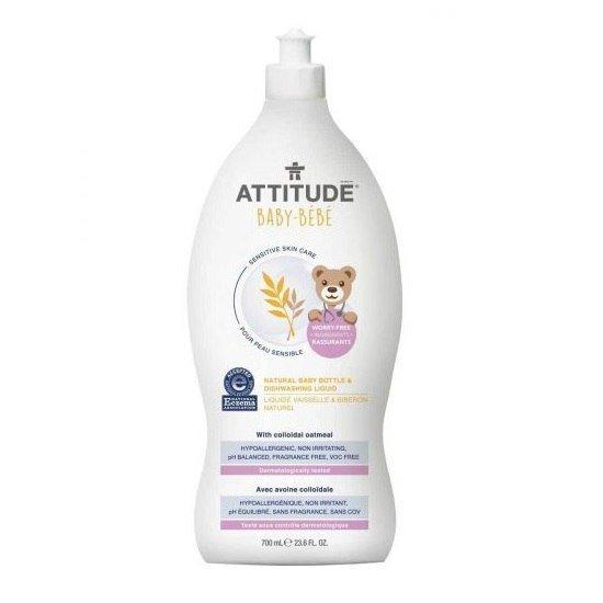 ATTITUDE Sensitive Skin Baby Naturalny płyn do mycia butelek i naczyń dla niemowląt 700 ml