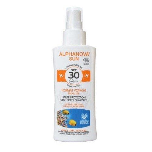 ALPHANOVA SUN Spray z filtrem SPF 30 wersja podróżna 90g
