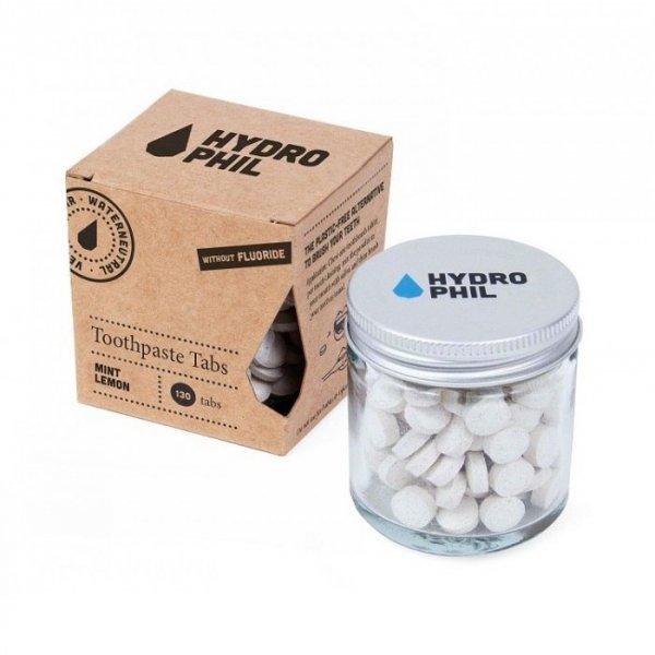 HYDROPHIL Tabletki do mycia zębów bez fluoru MIĘTA Z CYTRYNĄ 130 tabletek