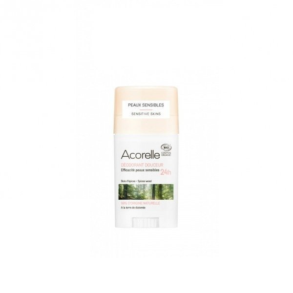 ACORELLE Organiczny dezodorant w sztyfcie z ziemią okrzemkową Spices Wood ECOCERT 45g