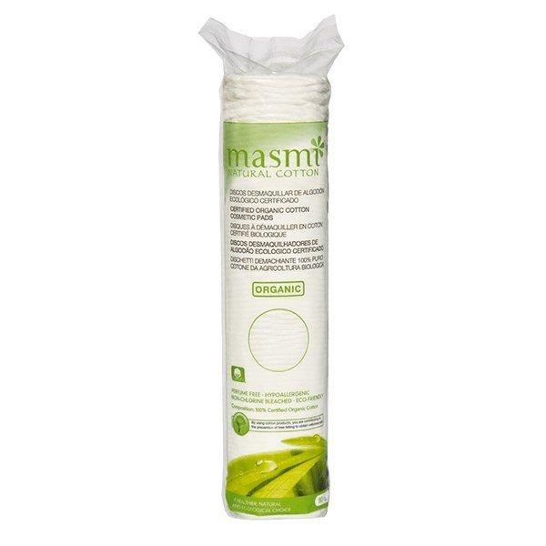 MASMI Płatki kosmetyczne 100% organicznej bawełny okrągłe 80 SZT
