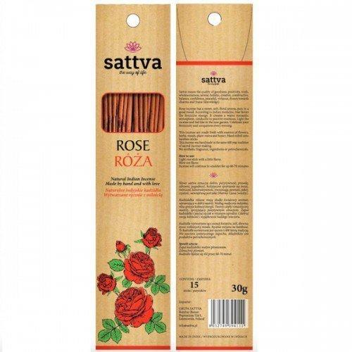 SATTVA AYURVEDA Kadzidełka INCENSE ROSE 30G Róża
