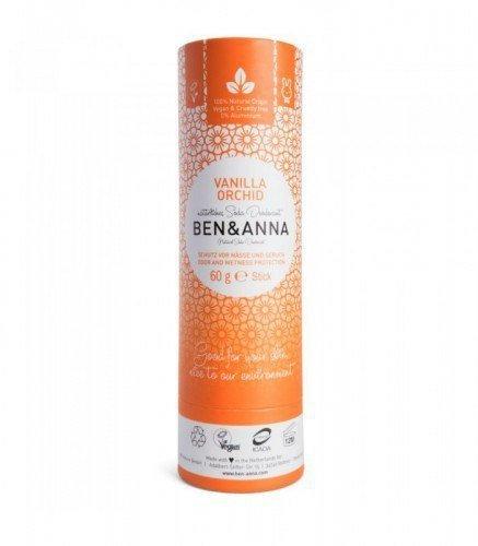 BEN & ANNA Naturalny dezodorant na bazie sody vanilla orchid (sztyft kartonowy) 0% aluminium 60g