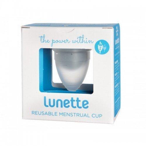 Lunette Kubeczek menstruacyjny model 2 przezroczysty + woreczek