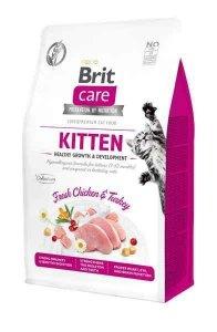 Brit Care Kitten Kurczak Indyk 7kg zdrowy wzrost i rozwój kociąt