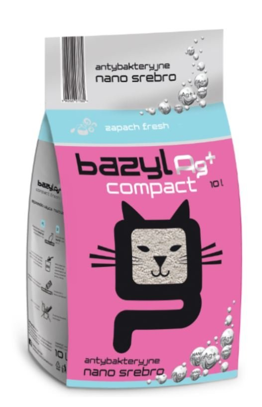 bazyl Ag+ Compact Fresh 10l żwirek bentonitowy