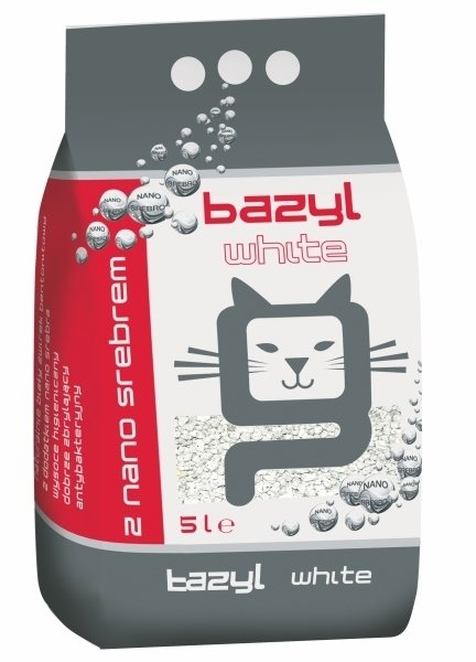 bazyl Ag+ White 5l antybakteryjny żwirek bentonitowy
