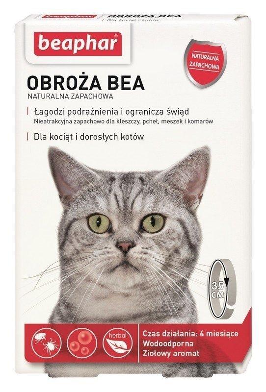 beaphar Obroża BEA dla kota przeciw pchłom i kleszczom 35cm naturalny zapach