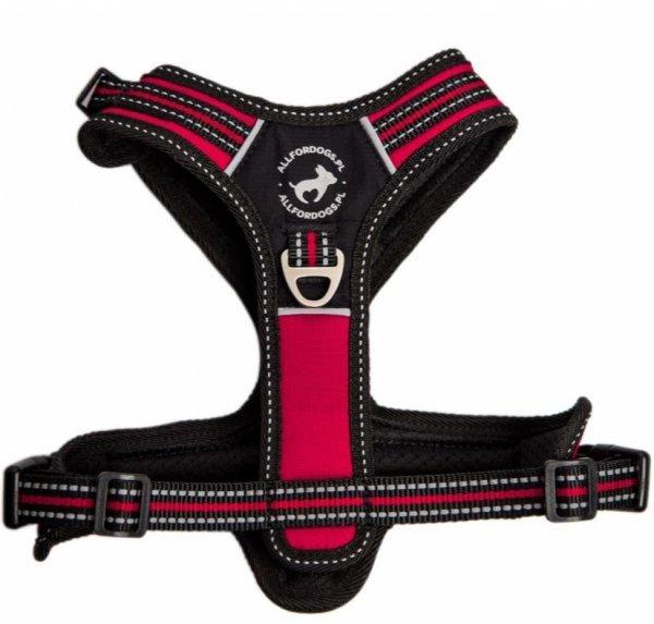 All For Dogs Szelki 3xSport Czerwone S rączka i 3 zapięcia