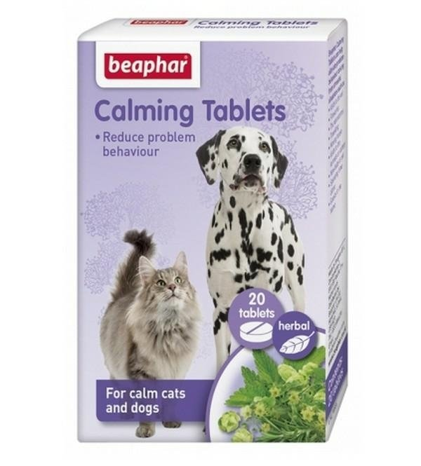 beaphar Calming tablets 20szt tabletki redukujące stres dla psa i kota