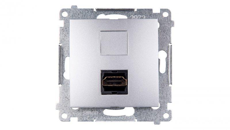 Simon 54 Gniazdo HDMI srebrny mat DGHDMI.01/43