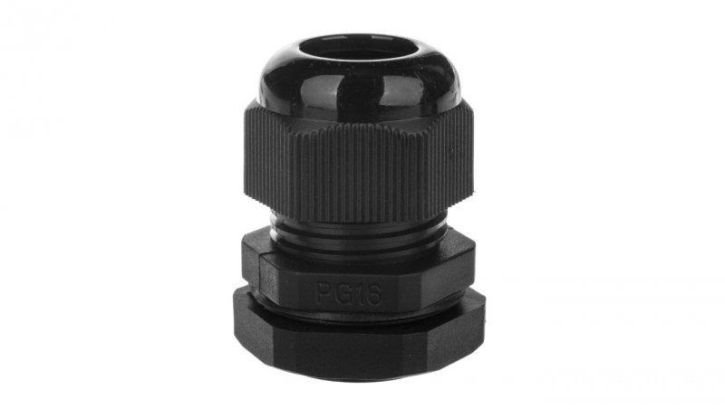 Dławnica kablowa poliamidowa PG16 IP68 DP 16/H BK czarna E03DK-01030300401