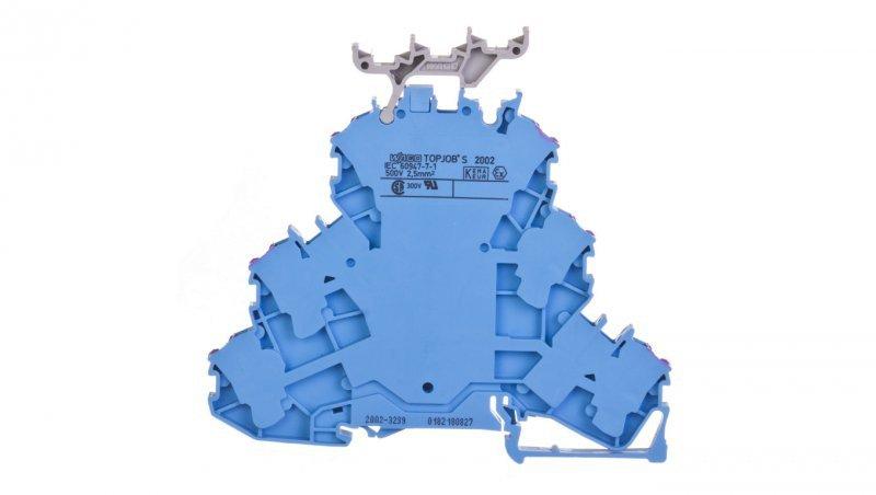 Złączka szynowa 3-piętrowa 2,5mm2 L niebieska 2002-3239 TOPJOBS /50szt./