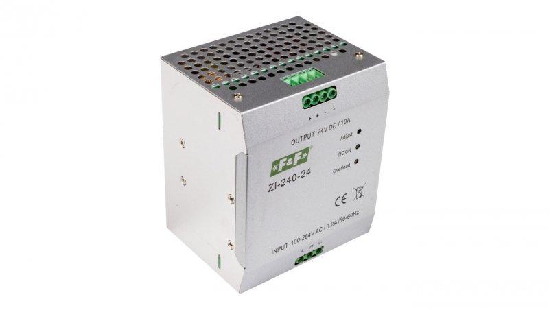 Zasilacz impulsowy 230VAC/24VDC 240W 10A ZI-240-24V