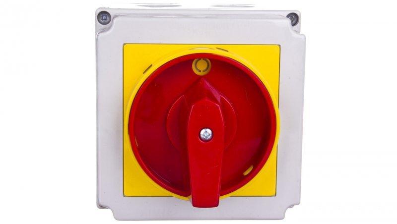 Łącznik krzywkowy 0-1 4P 40A w obudowie /+blokada/ 4G40-92-PK S6