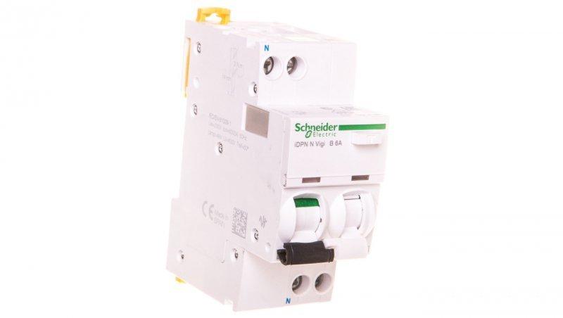 Wyłącznik różnicowo-nadprądowy 2P 6A B 0,03A typ AC iDPN N VIGI A9D55606