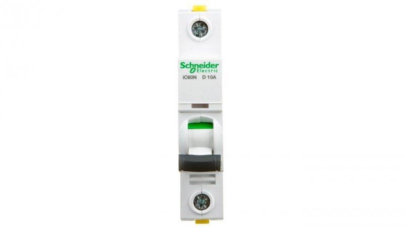 Wyłącznik nadprądowy 1P D 10A 6kA AC iC60N-D10 A9F05110