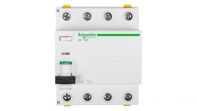 Wyłącznik różnicowoprądowy 4P 40A 0,03A typ AC iID A9Z11440